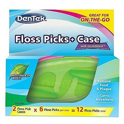 dentek-floss-picks-case-on-the-go-mint-flosser-colors-may-vary-12-ea-pack-of-6-by-dentek