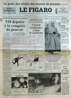 FIGARO (LE) N? 13968 du 25-07-1989 LE GUIDE DES TRESORS DES MUSEES DE PROVINCE LE PARLEMENT EUROPEEN ELIT SON PRESIDENT - 518 DEPUTES A LA CONQUETE DU POUVOIR MIKHAIL GORBATCHEV A BOUT D'ARGUMENTS DESTIN COMMUN PAR MARCHETTI UNE VOITURE QUI FAIT RECETTE - CE ROADSTER MERCEDES 18 ENFANTS MARTYRS ASSASSINES DEPUIS 18 MOIS - AMINATA 5 ANS - ALEXANDRE 11 ANS DIOR - UN NOUVEAU NEW-LOOK CAMBODGE - DIFFICILES POURPARLERS ENTRE LE GOUVERNEMENT ET LA RESISTANCE A PARIS SUR UN CES... par Collectif