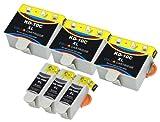 6 kompatible Druckerpatronen mit Füllstandsanzeige und Chip für Kodak EasyShare 5100 / 5300 / 5500 / 6150 / ESP 3 / 3250 / 5 / 5210 / 5220 / 5230 / 5250 / 7 / 7250 / 9 / 9250 / Office 6150 / Hero 7.1 / 9.1 / Office 6.1 Patronen kompatibel zu NO10 3949914 3947066