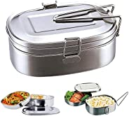 1pc Double Layers Bento Lunch Box Portable Student Stainless Steel Food Storage Container Dinning Supplies (Lunch Box Capaci