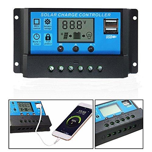 LawUza USB Solar Panel Batterie Regulator Charge Intelligente Controller Batterie Regulator