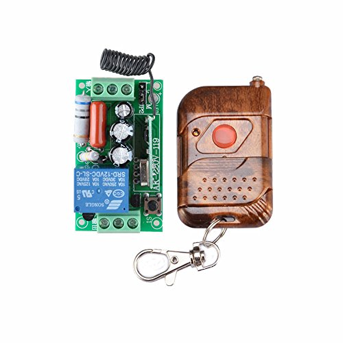 AC 220 V 10 A 1 Channel Relay Wireless Remote Control Switch RF Receiver Transmitter LED Light Lamp Remote ON OFF Push 433 MHz