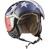 SOXON SP-325 Usa · Chopper Vintage Scooter Biker Bobber Demi-Jet Pilot Retro Cruiser Casque Jet Vespa Helmet Mofa Moto · ✔ ECE certifiés ✔ y compris le pare-soleil ✔ y compris le sac de casque ✔ Bleu · L (59-60cm)