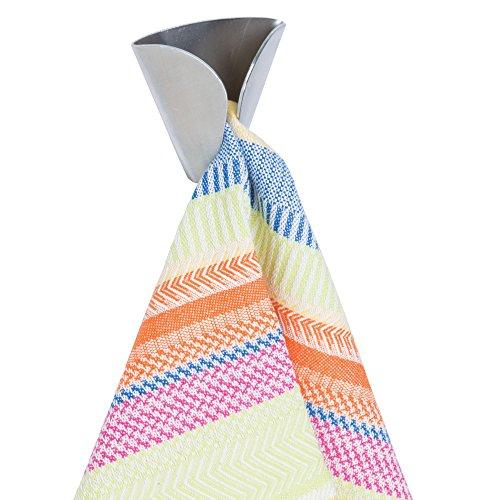InterDesign Forma porte-torchon - crochet à torchon sans perçage en acier inoxydable - lot de 2 crochets muraux - argenté mat