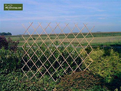 Flexibles Rankgitter Harmonica Spalier aus Bambus - verschiedene Größen (90cm x 180cm)