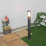 Moderne Außenstehleuchte in anthrazit/Aluminium E27 max. 60 Watt Außenstehlampe Gartenlampe Wegleuchte Weglampe