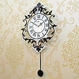 Unbekannt JIANMING Wanduhr Moderne Dekoration Haushalt Rom Stillen Swing Wand Uhr Mode Kreative Uhr Wohnzimmer Schlafzimmer Wand Diagramme Personalisierte Uhr