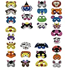 30 Piezas Máscaras de animales de espuma Día de los niños Disfraz de Navidad de Halloween