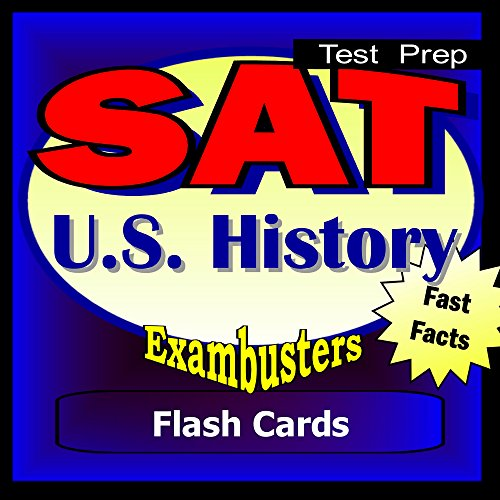 SAT US History Test Prep Review--Exambusters Flash Cards: SAT II Exam Study Guide (Exambusters SAT 2 Book 12) (English Edition)