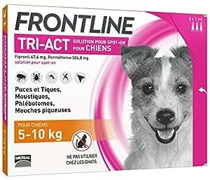 FRONTLINE Tri Act pour Petit Chien 5-10 kg 3 Pipettes
