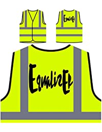 Equalizer Funny Personalized Hi Visibility Yellow Safety Jacket Vest Waistcoat c124v