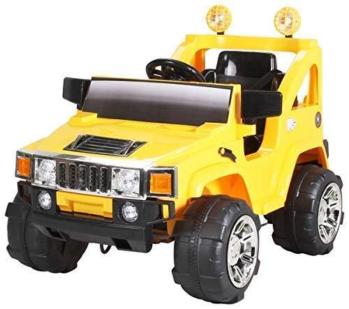 Actionbikes Electro Coche niños Hummer Jeep A30 con 2 x 35 Vatios Motor Electro Coche niños Vehiculo infantil en Muchos Colores - amarillo, **Kinder**, **Kinder**