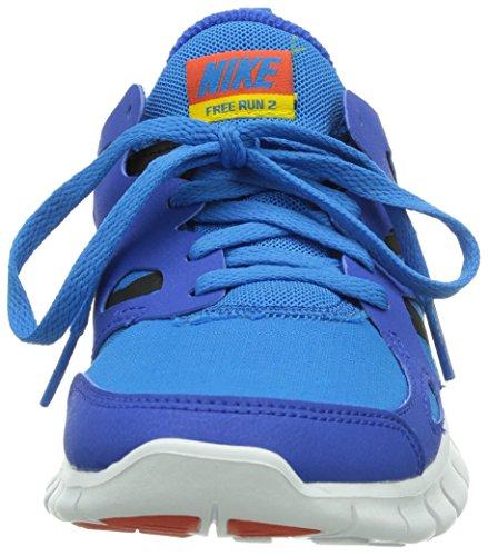 Nike - Nike Free Run 2 (Gs), Sneakers infantile Azzuro