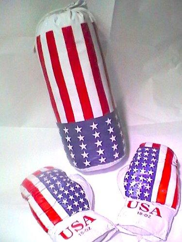 set Boxer per Ragazzi : 2 guantoni e sacco struttura da appendere - Pugilato Allenamento Pugile Junior