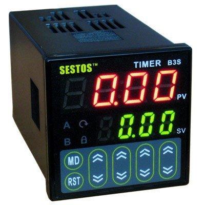 Preisvergleich Produktbild Timer Schalter Quartic Sestos Digital Relais Zeitschalter Auslöser 100-240V CE Omron Relais AC100-240V B3S