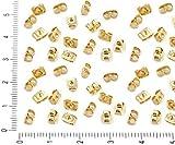 160pcs Licht Gold Plated Square Ohrring Spannmutter Earnut Verschluss-Stopfen Metall Erkenntnisse Großhandel 5mm