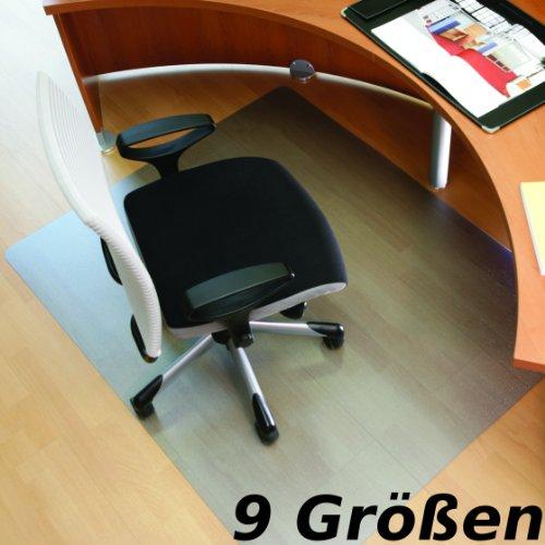 "RS Office Products Roll-o-Mat Bodenschutzmatte aus Makrolon® für Hartböden, Form O, 120 x 130 cm, TÜV-Siegel + Umweltzeichen \""Blauer Engel\"""