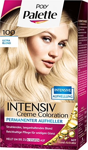 Palette Intensiv Creme Coloration 100 Ultra Blond Stufe 3, 3er Pack (3 x 128 ml)