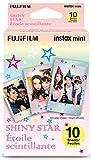 10Hojas Fujifilm Instax Mini película para Fuji Instant Camera-Shiny Star