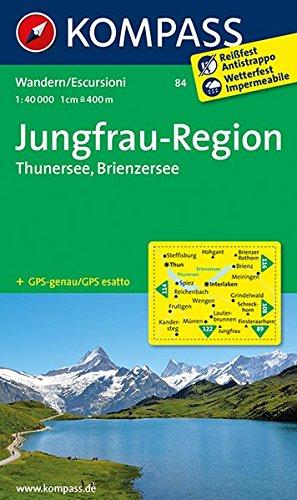 Jungfrau-Region - Thunersee - Brienzersee 1 : 50 000: Wanderkarte GPS-genau: Wandelkaart 1:40 000