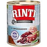 Rinti Kennerfleisch mit Geflügelherzen, 12er Pack (12 x 800 g)