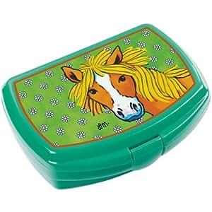 "Lunch-Box / Lunchbox / Brotdose ""Pony"" - grün"