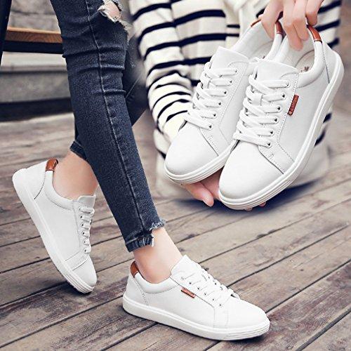 Hwf Femmes Chaussures Printemps Femme Plat Chaussures Simples Chaussures Blanches Plates Chaussures D'étudiant Femmes (couleur: Noir, Taille: 37) Noir