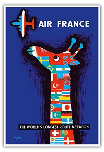 the-worlds-longest-excentricamente-air-france-cuello-de-la-jirafa-de-banderas-del-mundo-la-aerolinea