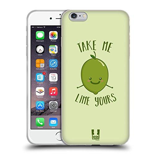 Head Case Designs Melone Herrlich Frucht Soft Gel Hülle für Apple iPhone 6 / 6s Lime