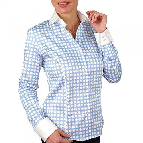 chemise a pois dots bleu Bleu