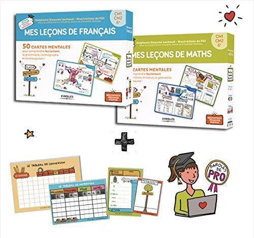 Mes Cartes Mentales DUO Maths + Franais cycle 3 - CM1, CM2, 6e