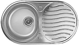 TEKA Évier en acier inoxydable évier de cuisine mitigeur/le bassin évier encastrable avec un, Dr–781C 1E CN Mat