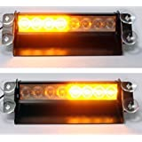 Universal Amber LED Emergency Flashing Warning Recovery Light Beacon 12v - ideal for Car Lorry Van Truck