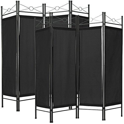 TecTake Biombos diseño 4-Panel Tela Divisor habitación Separador sep