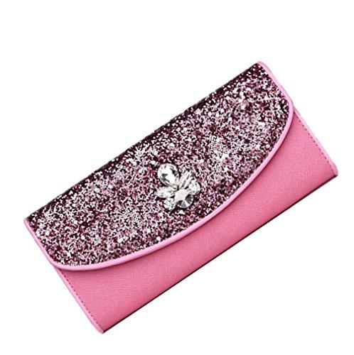 Heart&M Langes Abendkleid Ledertasche im High-End-Qualität Lady Hand Tasche Handtasche Pink