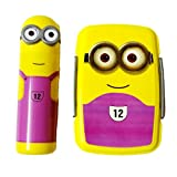 DS Minion Lunch Box with Pencil Box, Yellow & Purple