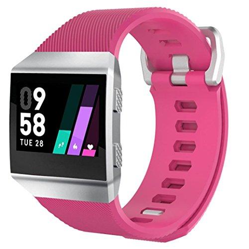 Drachen Strap für Fitbit Ionic Smart Watch, Weiches Silikon Sport Ersatzarmband (Pink)