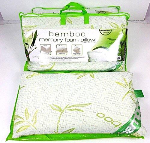 Bambus New Luxury Memory Schaum soft Kissen festen Kopf Hals Unterstützung abnehmbarer Bezug -
