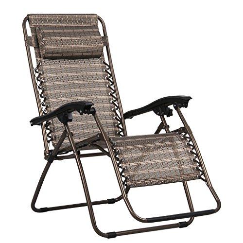 Finether sedia sdraio reclinabile e pieghevole, lettino in alluminio da esterno per tempo libero, bronzo …