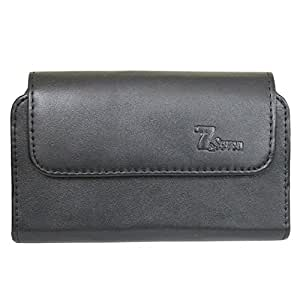 Jo Jo Horizontal Leather Carry Case Mobile Pouch Premium Cover Holder For Sony Xperia M5 Dual Black
