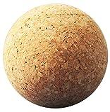Kork Massageball - mit Faszien Buch und Schmuckbeutel - Trigger Faszienball für Triggerpunkt Zonen, Plantarfasziitis Training - Bei Verspannungen - Selbstmassage Faszientraining 7 cm Korkball Natur