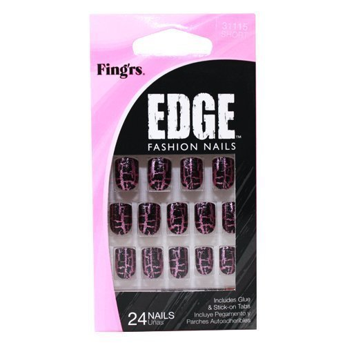 Fingrs Edge (Fing'rs Edge Nails Fashion Styles - Pack of 24 Nails by fing'rs)