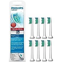 Philips Sonicare ProResults HX6018/07 - Set de 8 cabezales estándar para cepillo de dientes eléctrico, color blanco