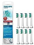 Philips Sonicare Original ProResults Aufsteckbürsten Standard HX6018/07, weiß, 8er Pack, passend für DiamondClean, FlexCare Platinum, FlexCare(+), HealthyWhite, EasyClean, PowerUp
