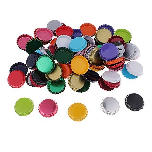 IPOTCH 100 Stück Bottle Cap Kronkorken DIY Basteln Halskette Schlüsselanhänge - Mehrfarben 1, 25 mm (Cap Halskette Bottle)