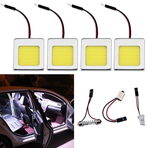 GrandView - Luce di cortesia per l'abitacolo dell'auto, super luminosa, con luci LED COB 48-SMD, con adattatore a festone T10BA9S