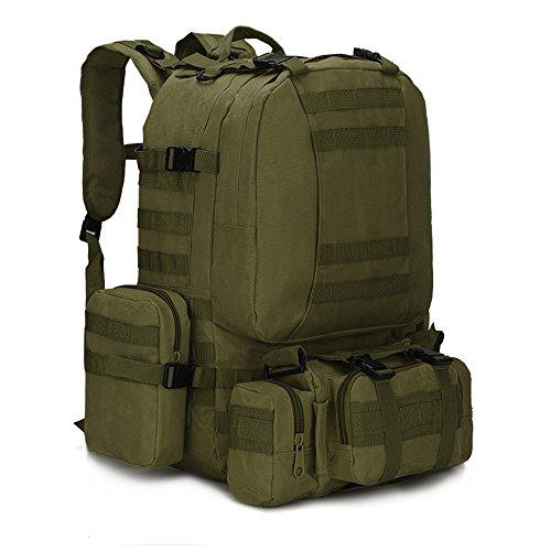 dohot groß, wasserdicht Military Army Patrol MOLLE Assault Pack Tactical Rucksack Tasche für Wandern Camping, 60l, armee-grün -