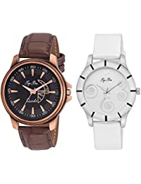 Pappi Boss Analogue Multi-Colour Dial Women's Watches -Couple Wrist Watches Combo