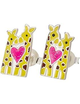 SL-Silver Kinder Ohrringe Giraffe Herz 925 Silber in Geschenkbox