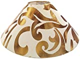 "RDC 13"" Round Cream with Golden Designer Lamp Shade for Table or Floor Lamp"